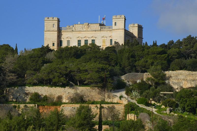 vue sur un château à Malte