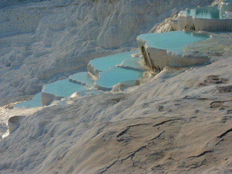 Source d'eau chaude eau turquoise en Turquie