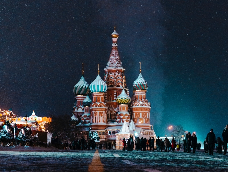 Cathédrale Saint Basile à Moscou en Russie