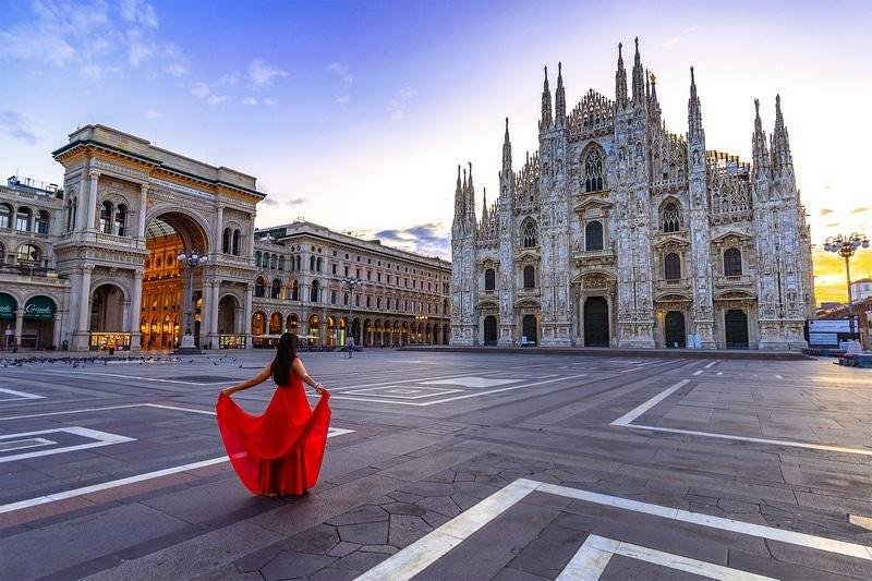Le dôme de Milan en Italie Cathédrale