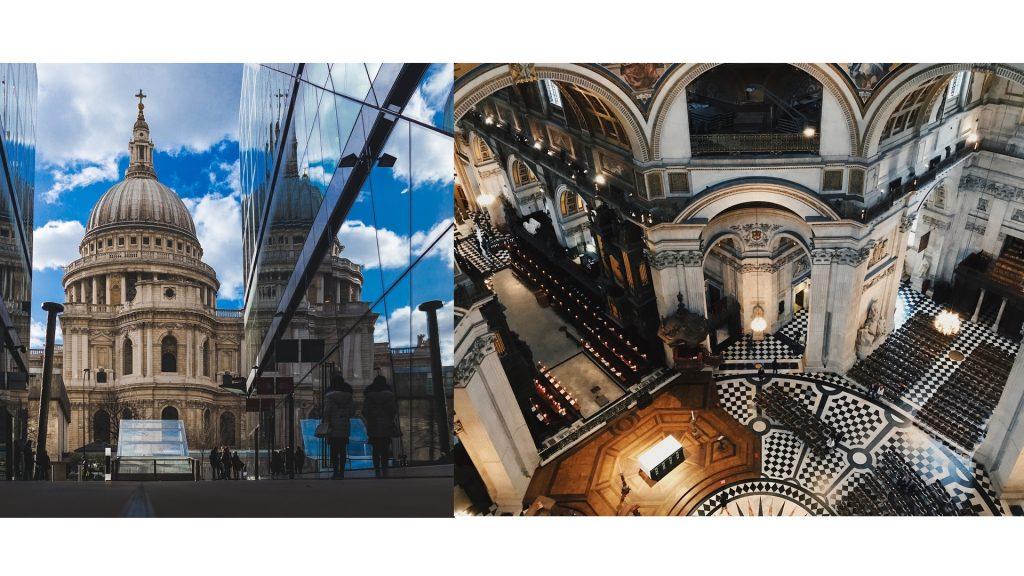 cathedrale st paul à Londres intérieur et extérieur