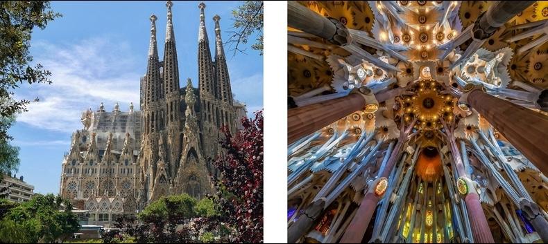 Sagrada Familia à Barcelone en Espagne